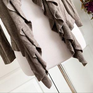 89th & Madison Sweaters - 89th & Maddison Soft Ruffle Cardigan Sweater